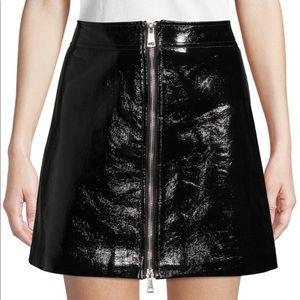 Ronny Kobo Penelope Front-Zip Mini Skirt